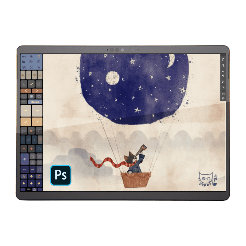 photoshop touch panel buttons Tablet Pro Artist Pad